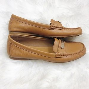 84a142f6883 Coach Shoes - Coach Fredrica Brown Leather Flats Penny Loafers